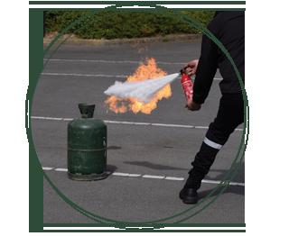 Formation incendie manipulation extincteurs